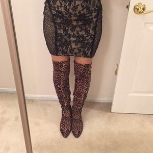 Marc Fisher leopard boots. Fit 7